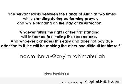 Salah and Qiyamah (Ibn al-Qayyim Quote) - Ibn Qayyim Al-Jawziyyah Quotes