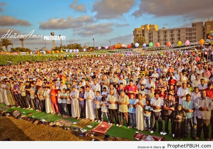 Salat Eid al-Fitr 1433 (2012) at Alexandria University, Alexandria, Egypt - Photos -