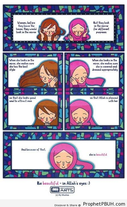 She is Beautiful - Drawings of Female Muslims (Muslimahs & Hijab Drawings)