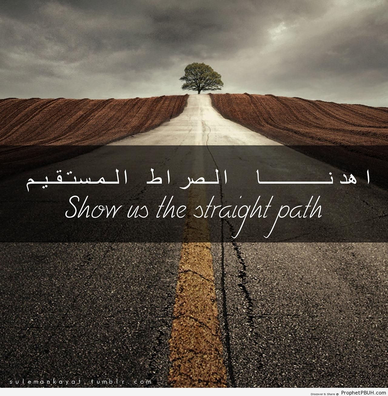 Show Us the Straight Path (Quran-Surat al-Fatihah) -