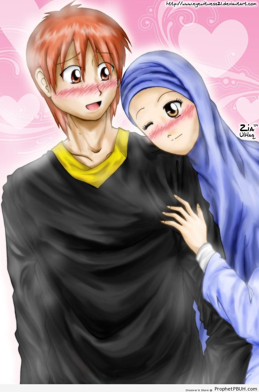 Shy Newly Wed Couple - Drawings
