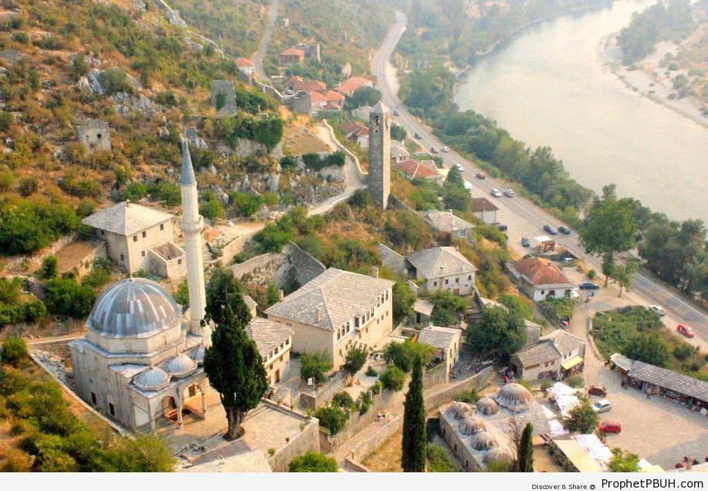 Sišman Ibrahim Paša Mosque in Počitelj, Bosnia and Herzegovina - Bosnia and Herzegovina -Picture