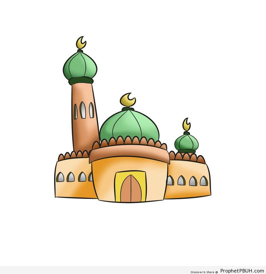 Simple Mosque Drawing - Drawings