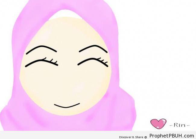 Simple Muslimah Doodle - Drawings