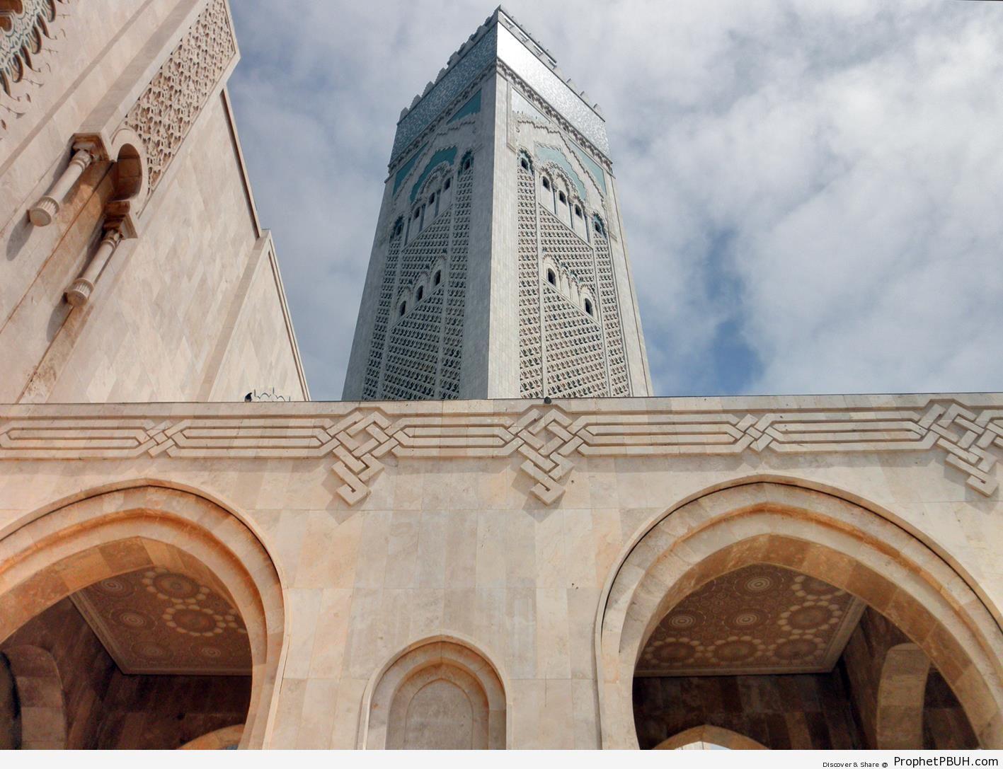 Square Minaret of Hassan II Mosque in Casablanca, Morocco - Casablanca, Morocco -Picture