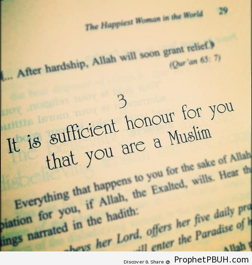 Sufficient Honor (Photo of Page 29 of The Happiest Woman in the World by `A-idh al-Qarni) - Aaidh ibn Abdullah al-Qarni Quotes