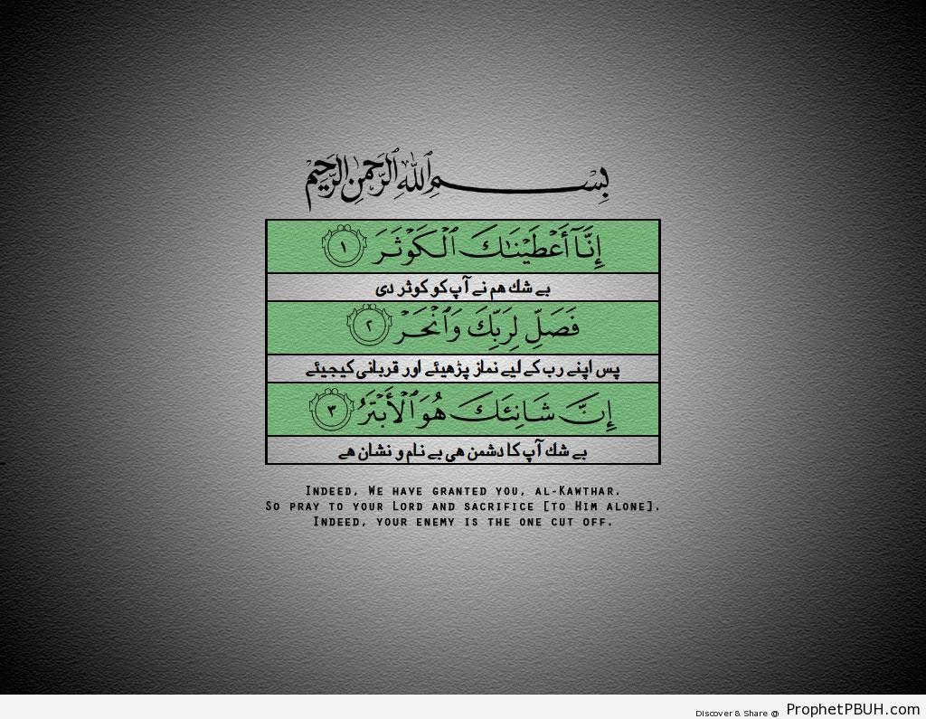 Surat al-Khawthar - Quranic Verses