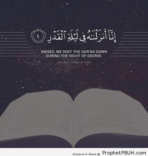 Surat al-Qadr - 97-1 - Islamic Quotes