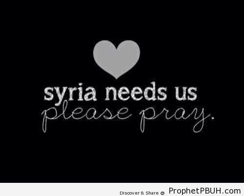 Syria Needs Us - Syrian Revolution