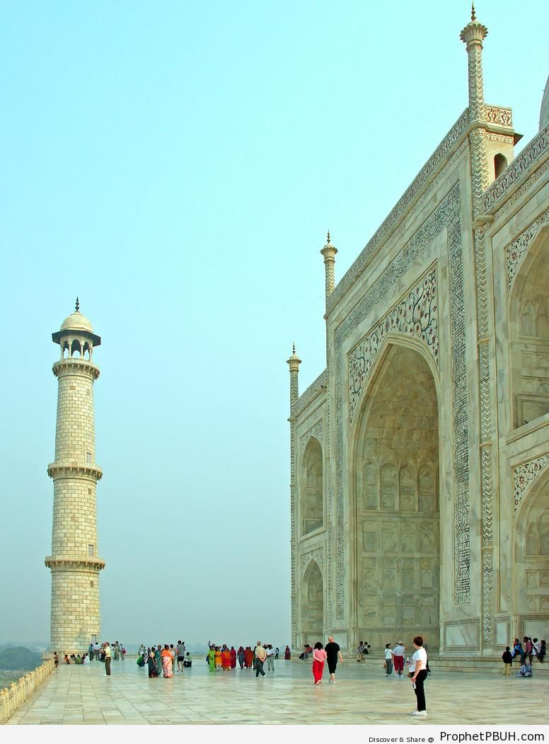 Taj Mahal Facade from Right - Agra, India