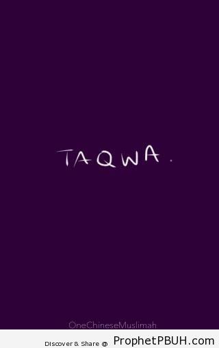 Taqwa - Islamic Posters