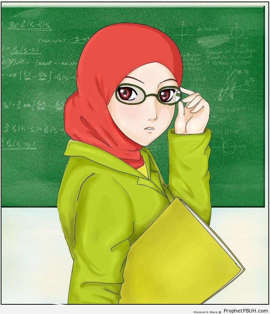 Teacher Wearing Glasses - Drawings