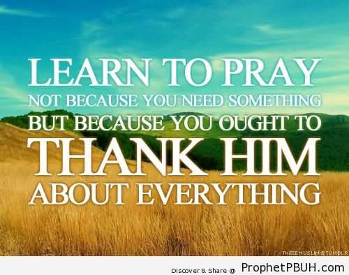 Thankful prayer - Dua
