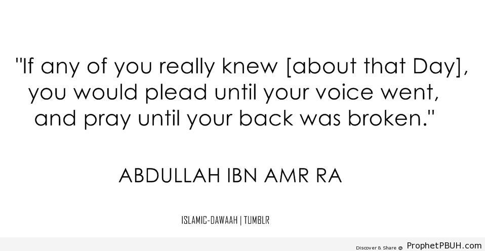 That Day (Abdullah ibn `Amr Quote) - Abdullah ibn `Amr ibn `Aas Quotes