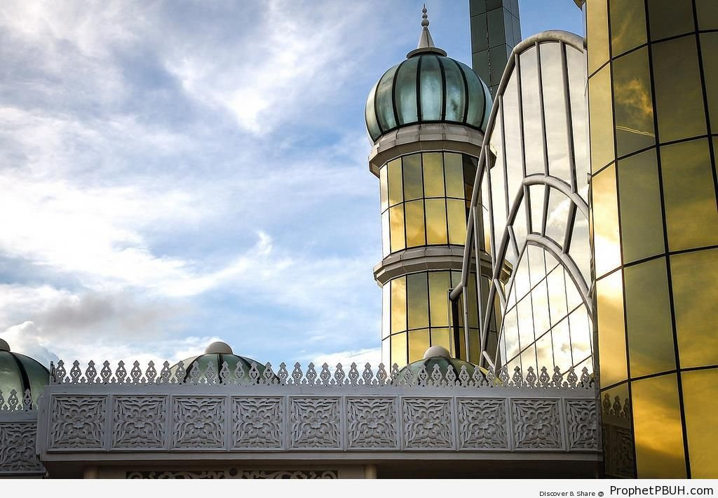 The Crystal Mosque (Masjid Kristal) in Kuala Terengganu, Malaysia - Islamic Architecture -Picture