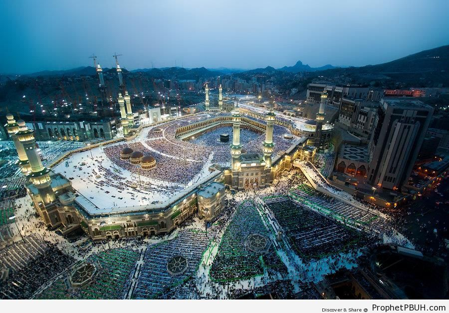 The Grand Mosque in Makkah, Saudi Arabia - al-Masjid al-Haram in Makkah, Saudi Arabia -Picture