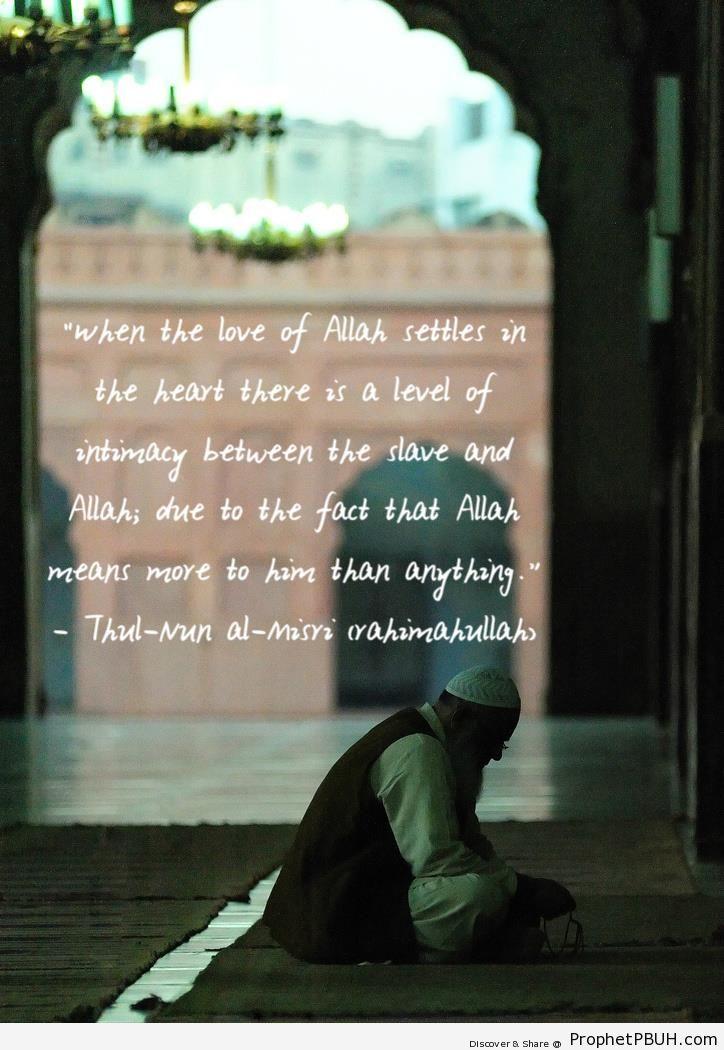 The Love of Allah (Dhul-Nun al-Misri Quote) - Dhul-Nun al-Misri Quotes