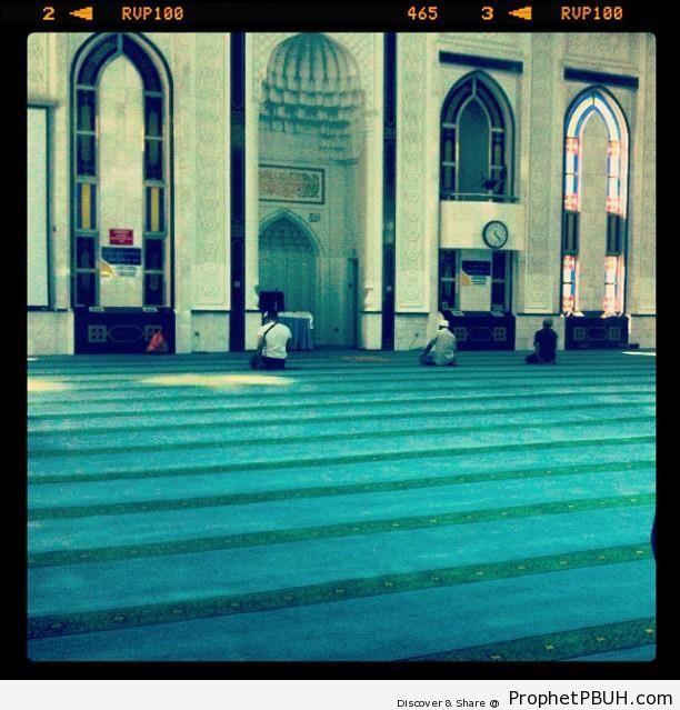 The Musalla of Masjid As Syakirin in Kuala Lumpur, Malaysia - As Syakirin Mosque (Masjid As Syakirin or KLCC Mosque) in Kuala Lumpur, Malaysia