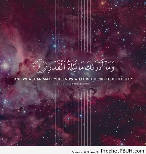The Night of Decree (Quran 97-2) - Islamic Quotes