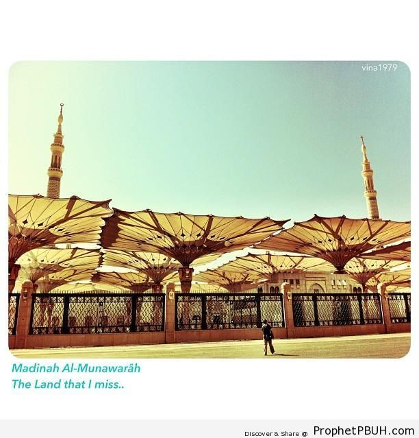 The Prophet-s Mosque - Al-Masjid an-Nabawi (The Prophets Mosque) in Madinah, Saudi Arabia