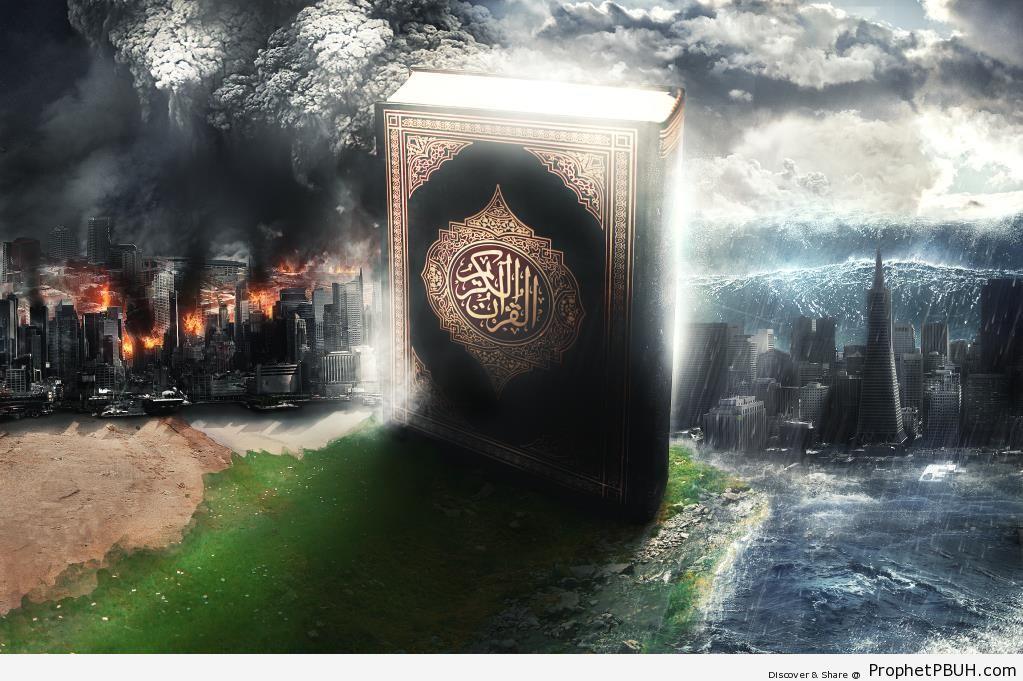 The Quran- Safety Among Chaos - Islamic Conceptual Art