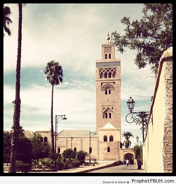 The Square Minaret of Koutibia Mosque in Marrakech - Islamic Architecture