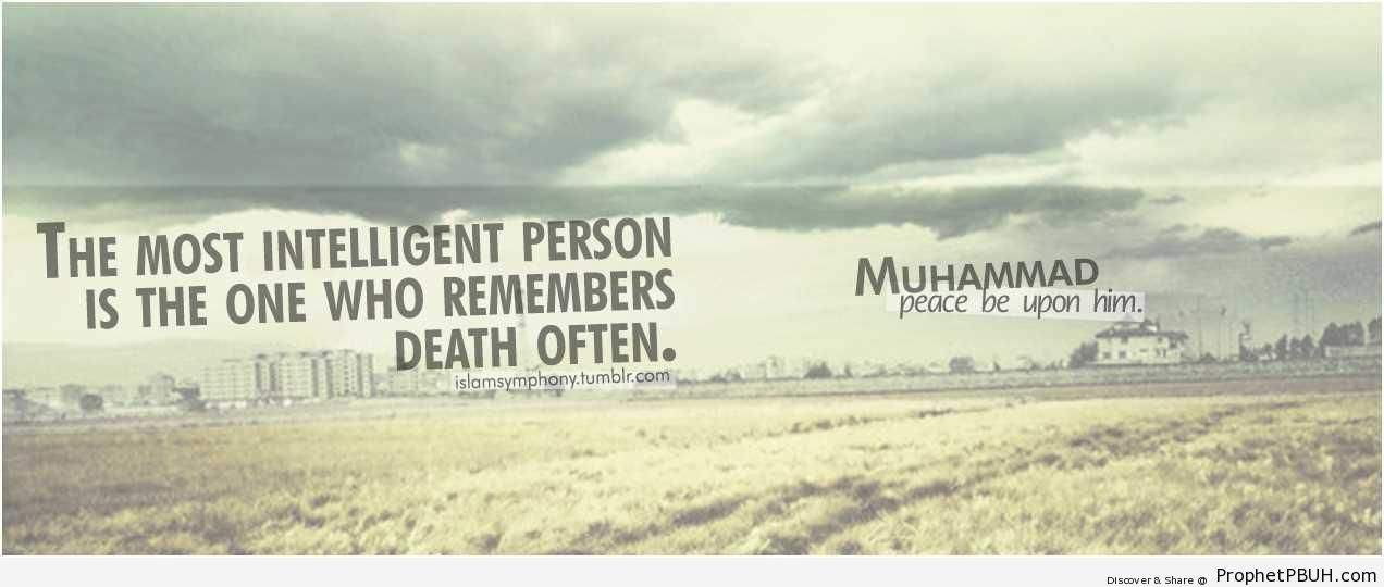 The most intelligent person - Hadith -Picture