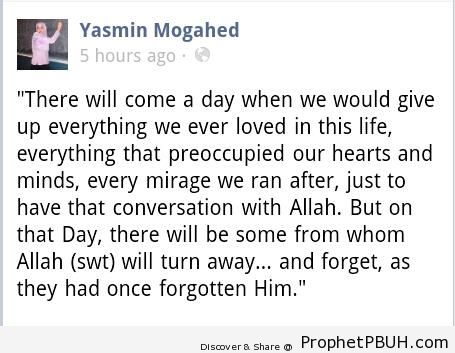 There Will Come a Day (Yasmin Mogahed Quote) - Islamic Quotes
