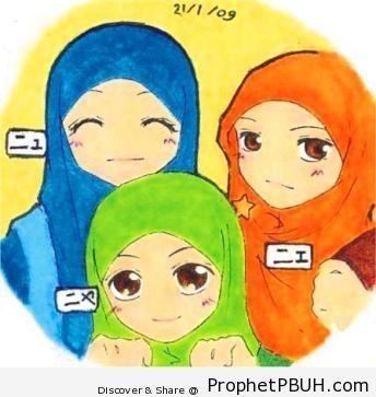 Three Sisters - Drawings