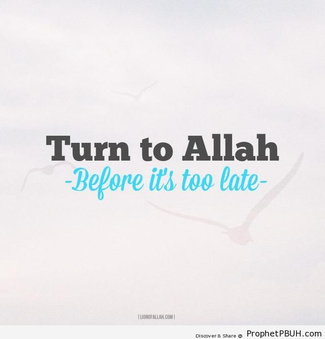 Turn to Allah - -Turn to Allah- Posters -002