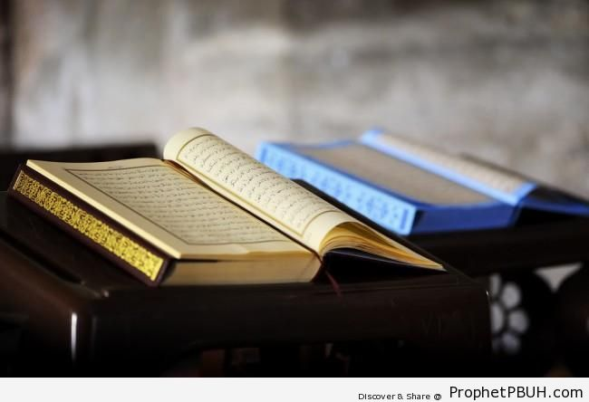 Two Open Books of Quran - Mushaf Photos (Books of Quran)