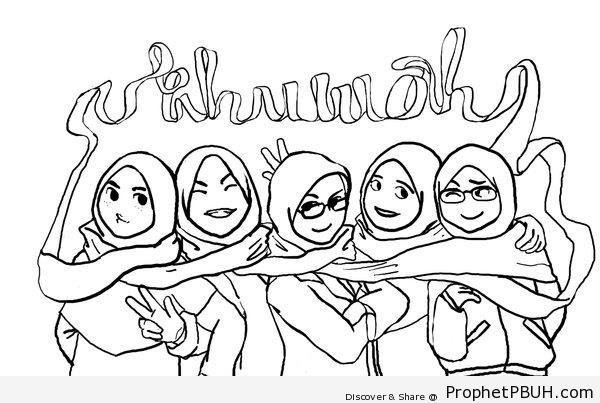 Ukhuwah (Sisterhood) Poster - Drawings