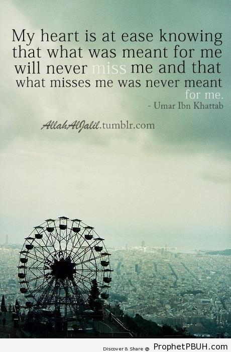 Umar ibn al-Khattab on Contentedness - Islamic Quotes