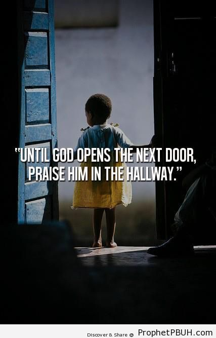 Until God Opens the Next Door - Islamic Quotes