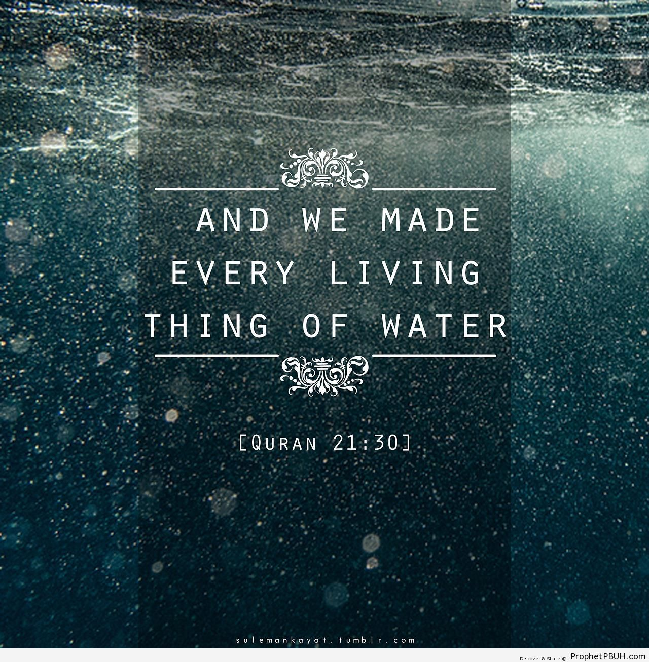 Water (Quran 21-30) - Quran 21-30