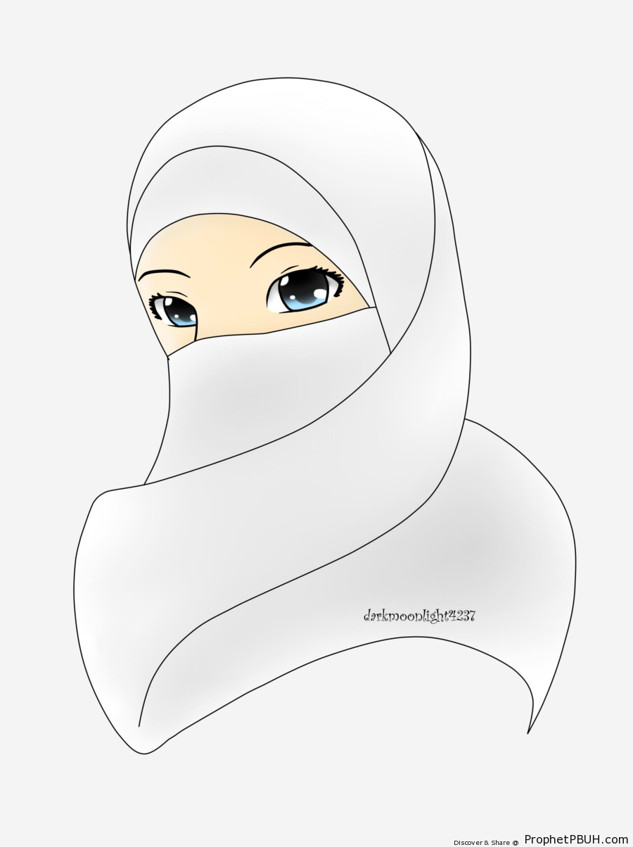 White Niqab - Drawings