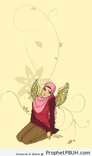 Winged Muslimah - Drawings