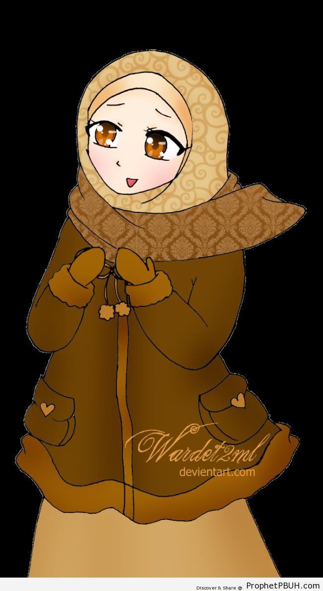 Winter Hijab Style - Drawings
