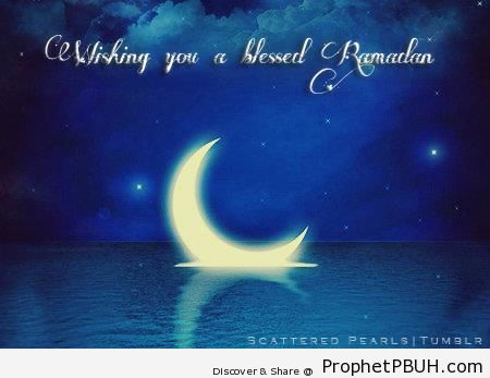 Wishing You a Blessed Ramadan - Drawings of Crescent Moons