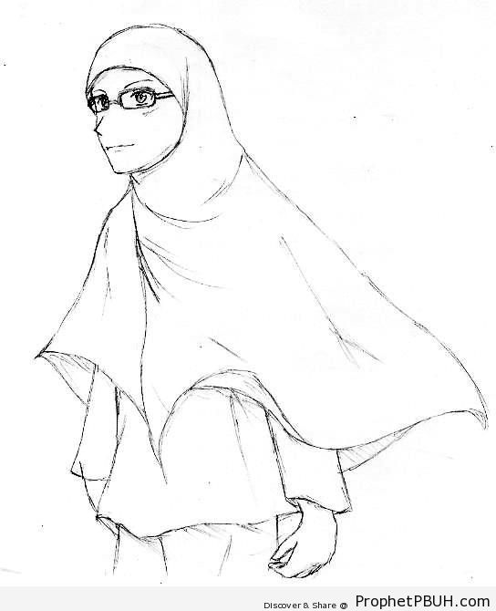 Woman in Glasses - Drawings