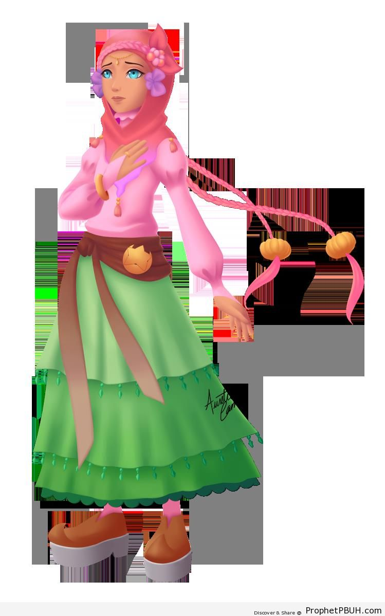 Worried Hijabi Princess - Drawings