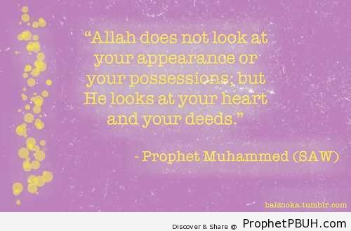 Your Heart and Deeds - Hadith