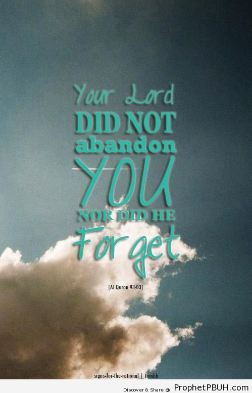 Your Lord Did Not Abandon You - Quran 93-3