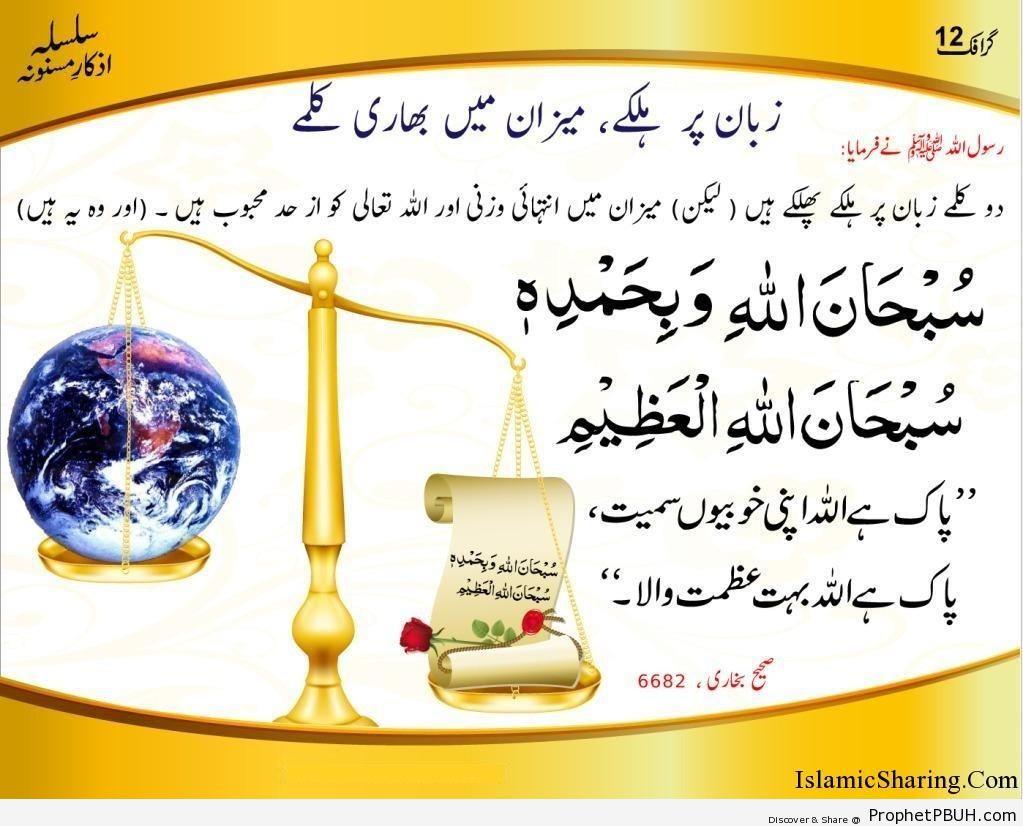 Zaban par Halkay Lakin Mizan Main Bhari Kalmay
