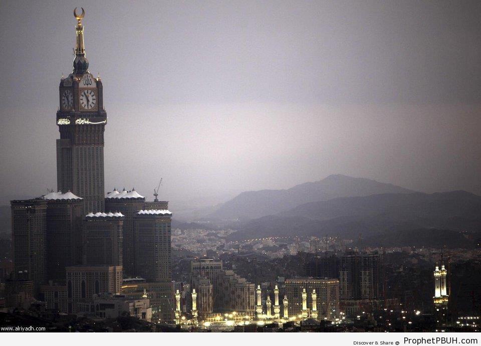 al-Masjid al-Haram Evening from Faraway - al-Masjid al-Haram in Makkah, Saudi Arabia