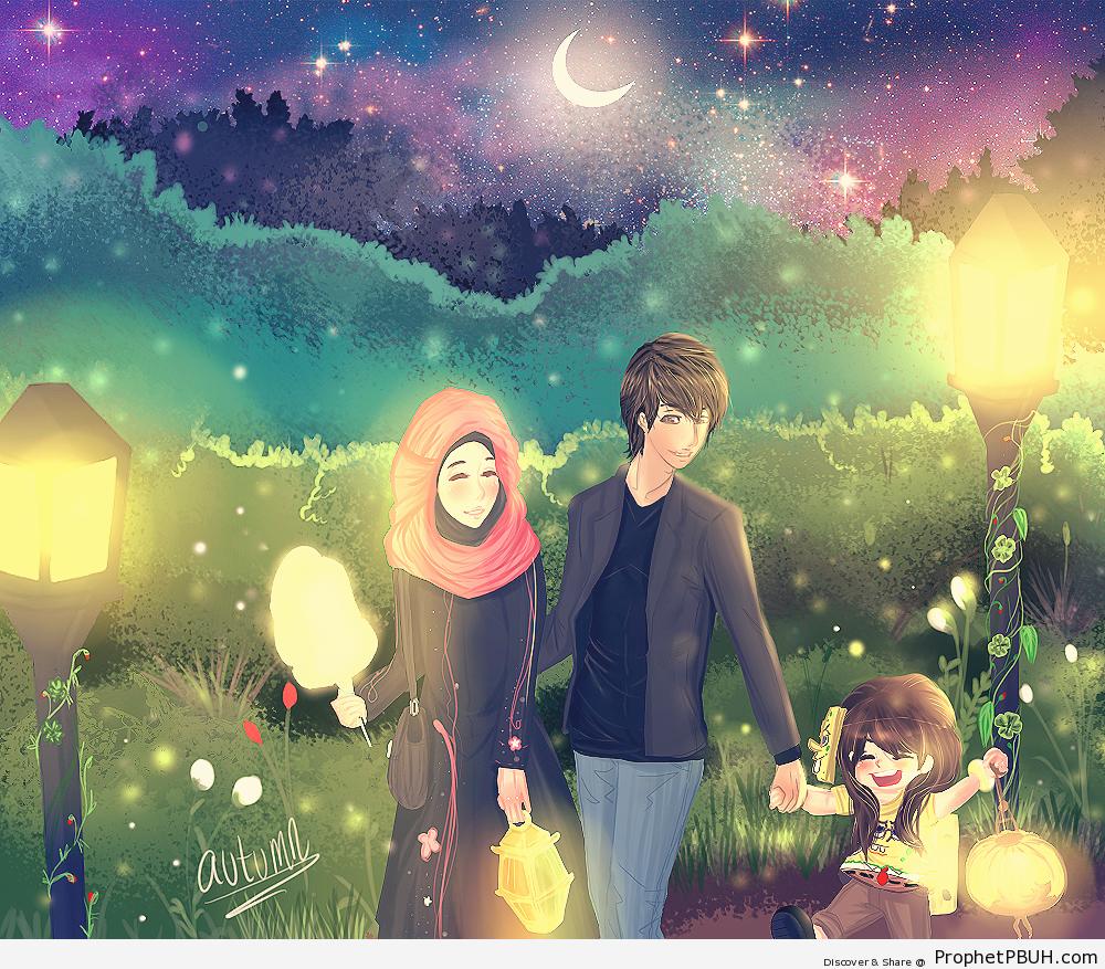 muslim-family-drawing