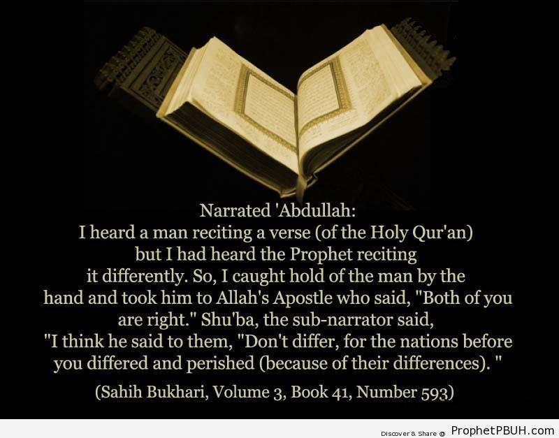 sahih bukhari volume 3 book 41 number 593