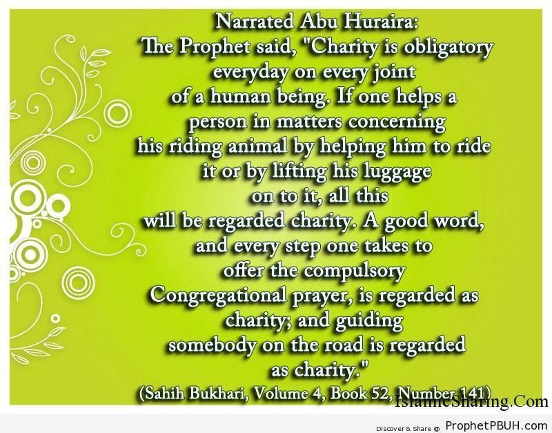 sahih bukhari volume 4 book 52 number 141