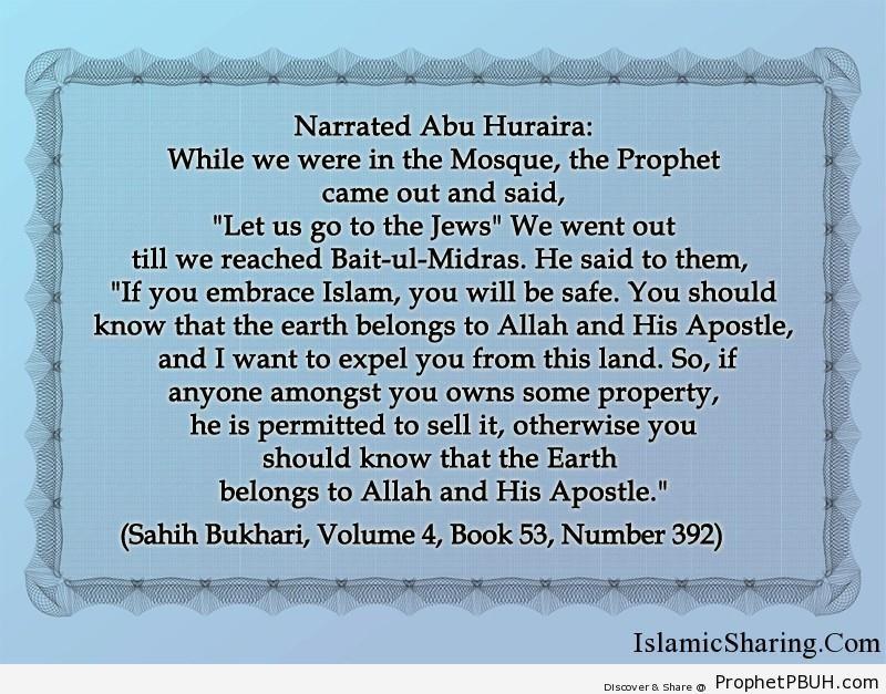 sahih bukhari volume 4 book 53 number 392