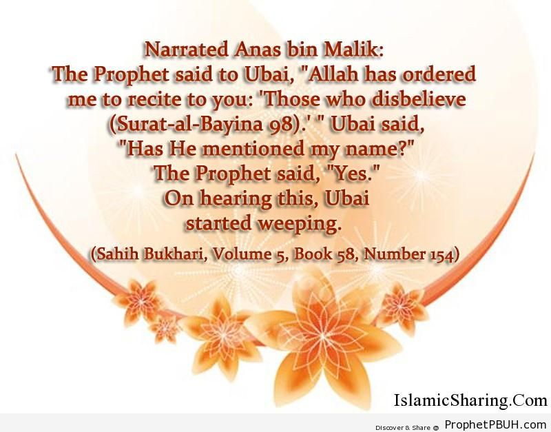 sahih bukhari volume 5 book 58 number 154